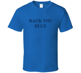 Mens Back The Blue T Shirt Hoodie Tanktop Ladies T-Shirt