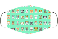 Puppies Mask Face Mask Cover