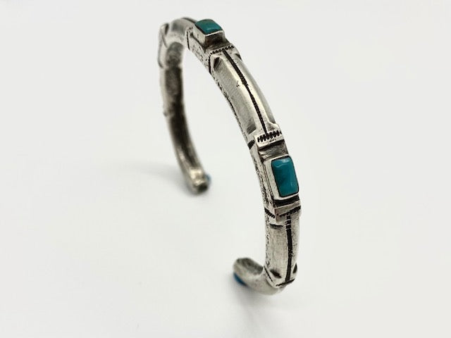 Jock Favour Fox Turquoise Stacker Bracelet