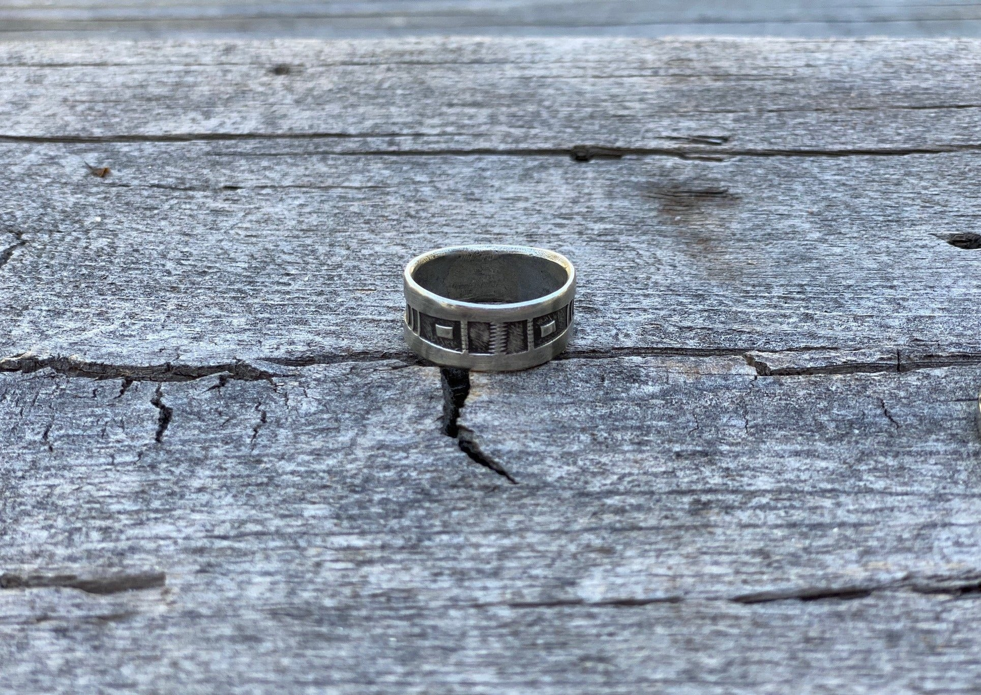 Jock Favour southwest silver ring