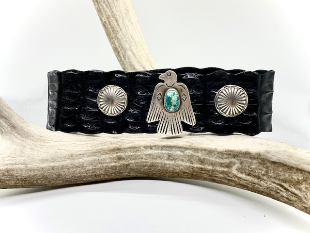 Silver and Turquoise Thunderbird Choker