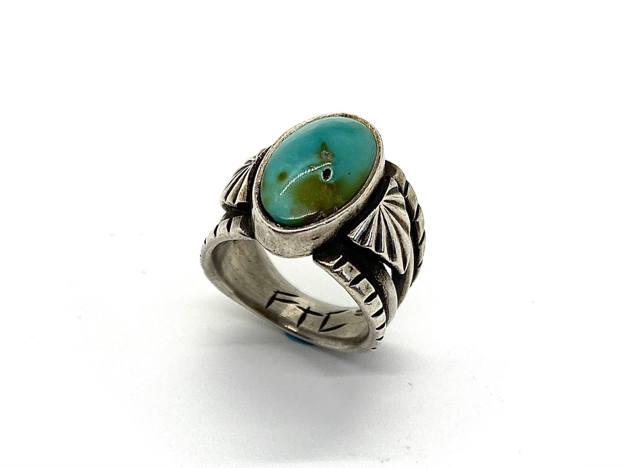 Tufa Cast Sterling Silver Sierra Nevada Turquoise Ring