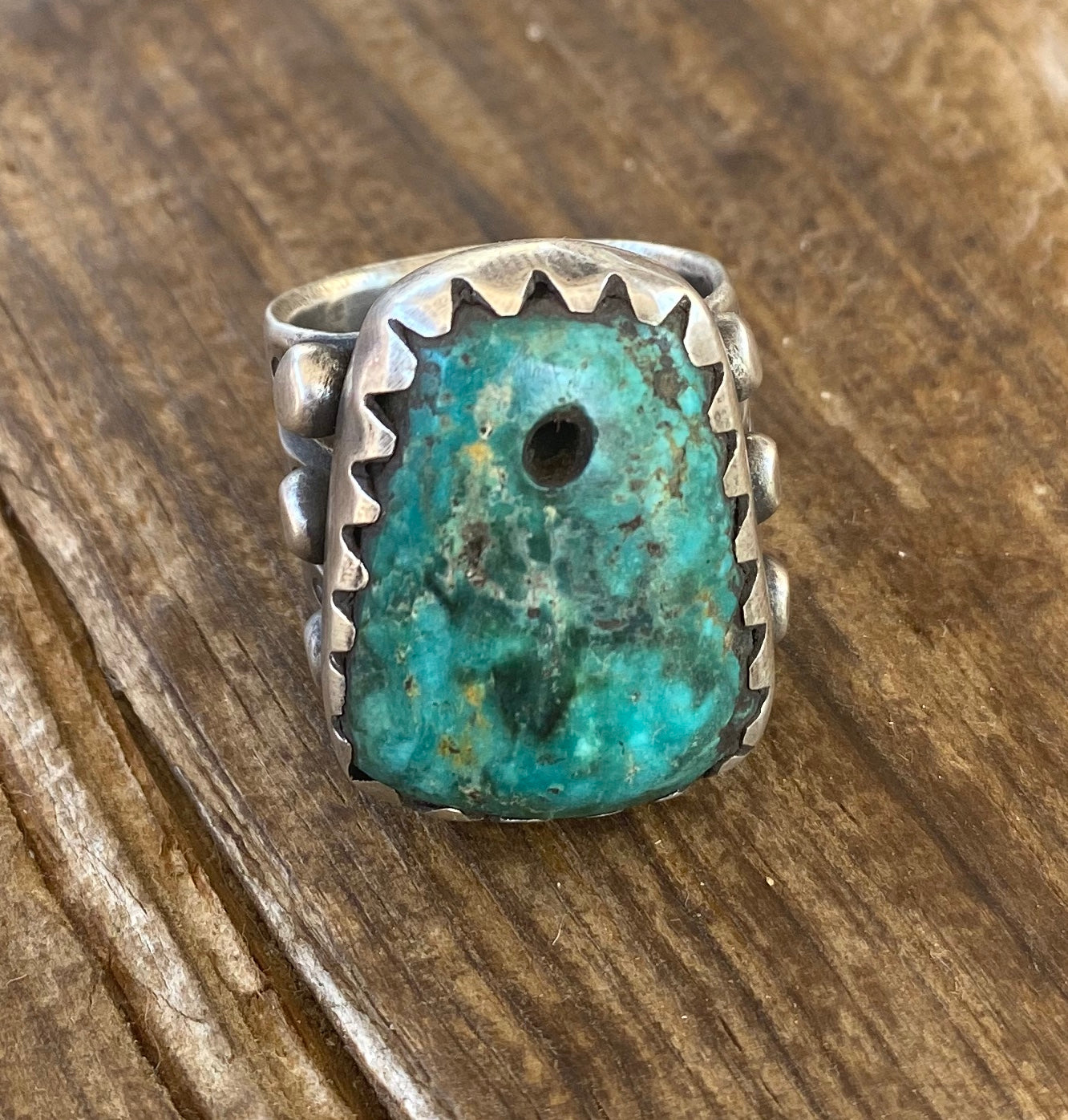 Jock Favour Fox Turquoise Bead Ring