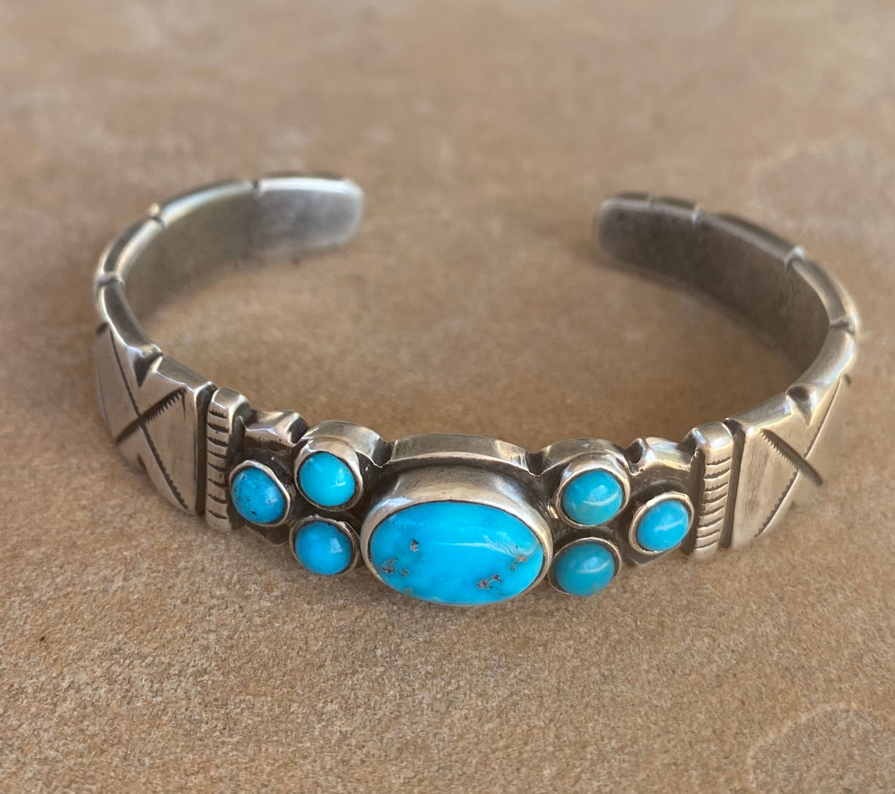 Southwest Bracelet with Kingman Turquoise
