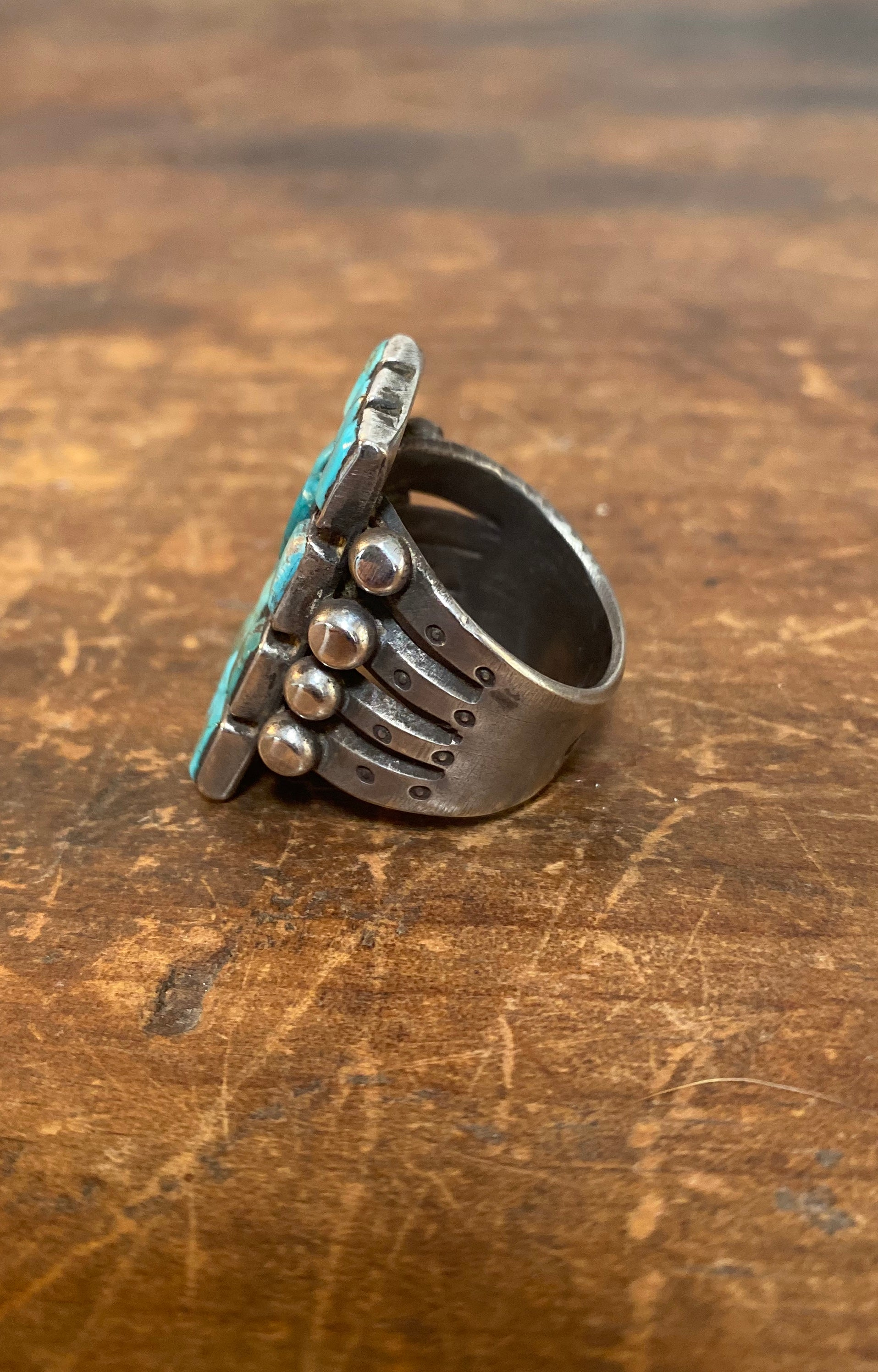 Jock Favour Turquoise Tile Ring