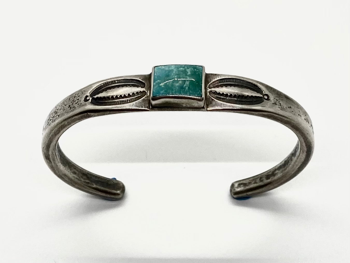 Jesse Robbins Sterling Silver and Turquoise Stacker Bracelet