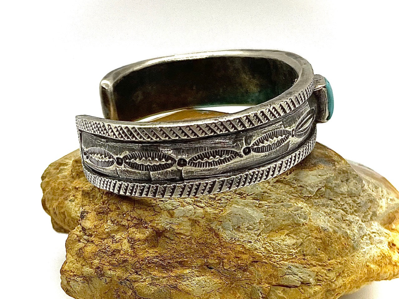 Jock Favour Battle Mountain Silver and Turquoise Bracelet