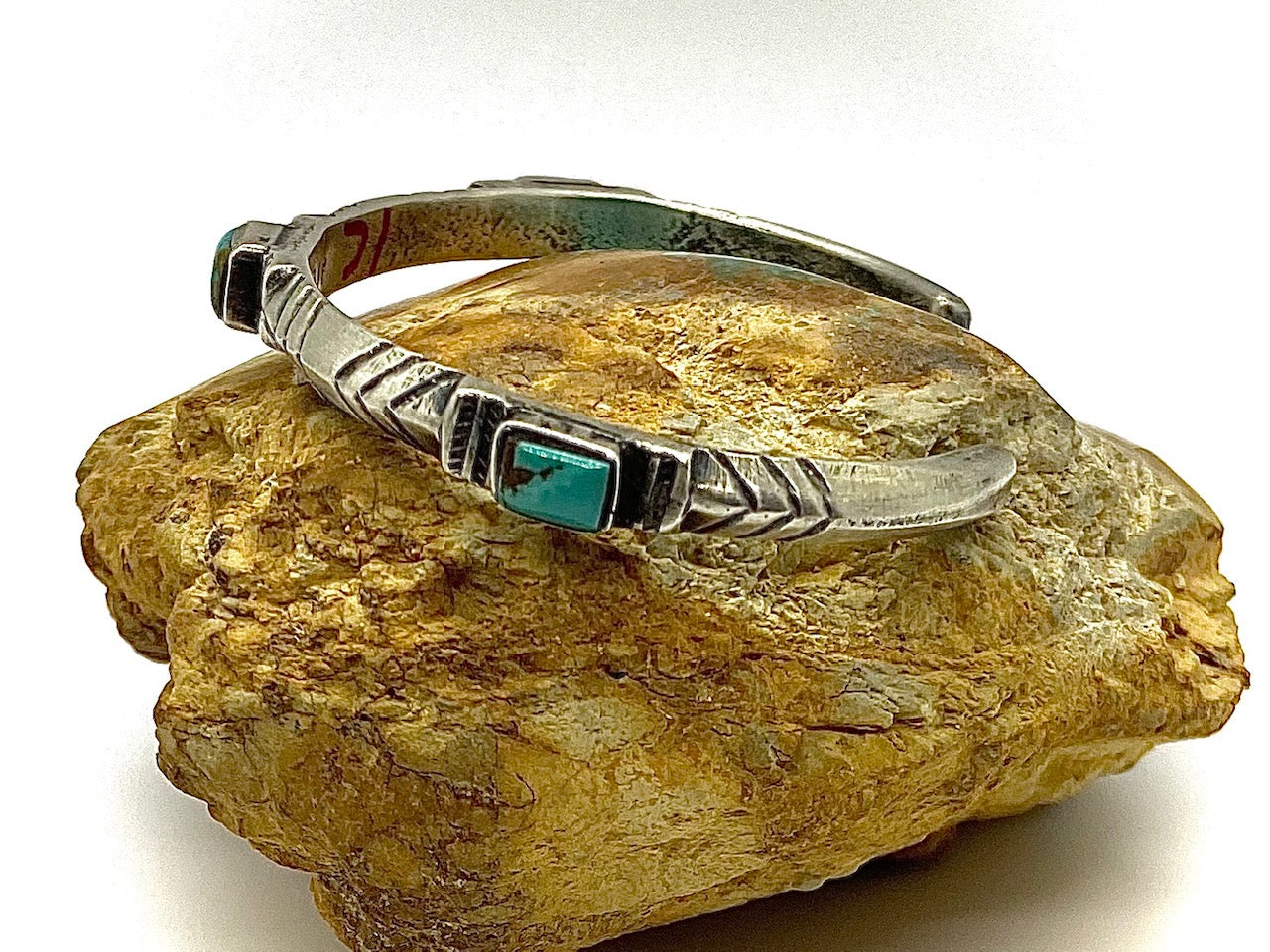 Jock Favour 3 Stone Silver and Turquoise Stacker