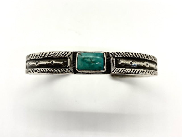 Jock Favour Double Flat Top Bracelet with Fox Turquoise