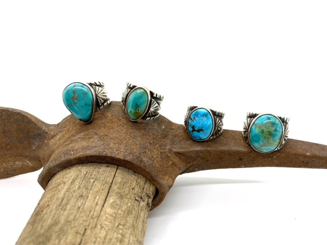 Sterling Silver Ring with Sierra Nevada Turquoise