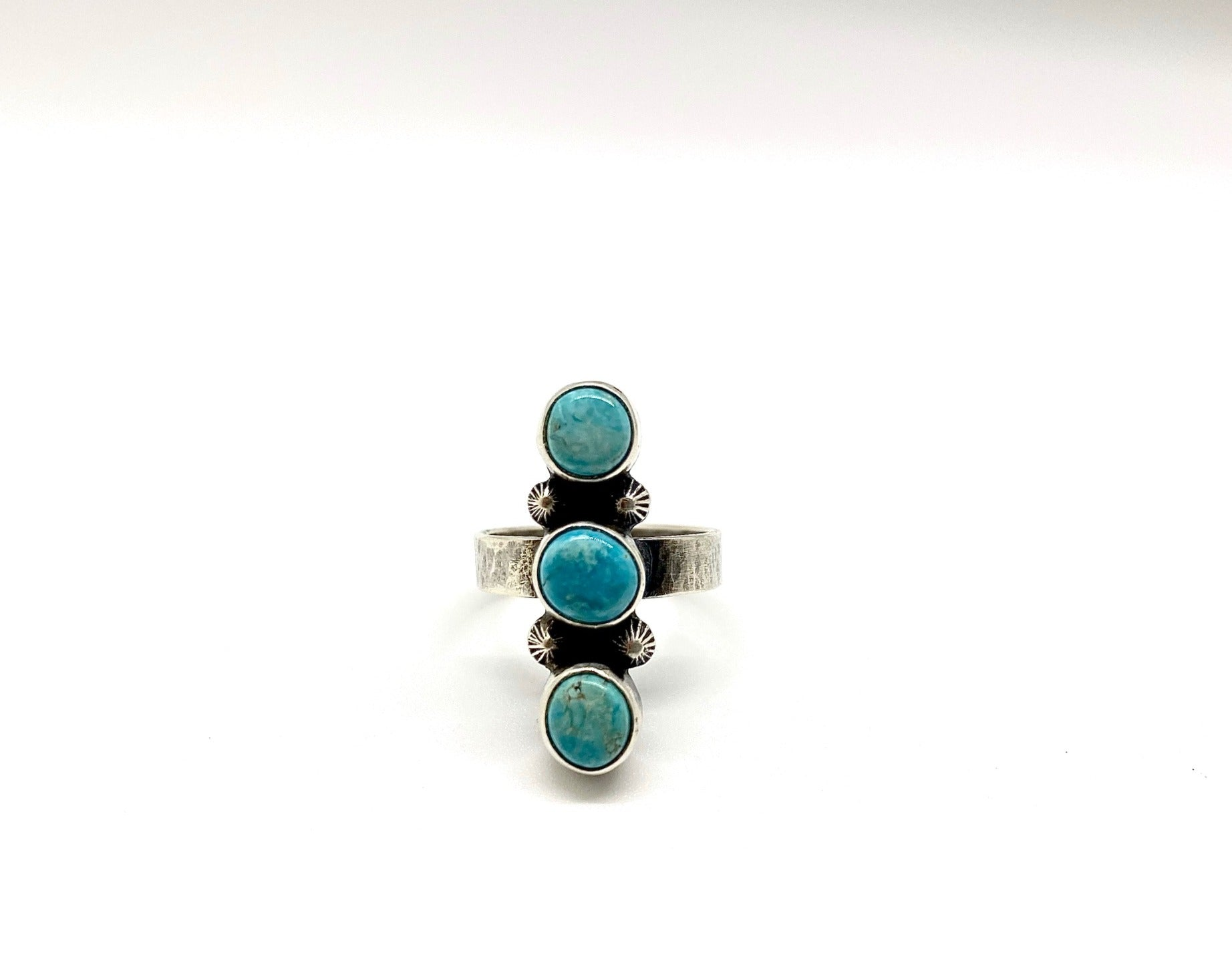 Silver and Turquoise Ring Claim Post Design Co