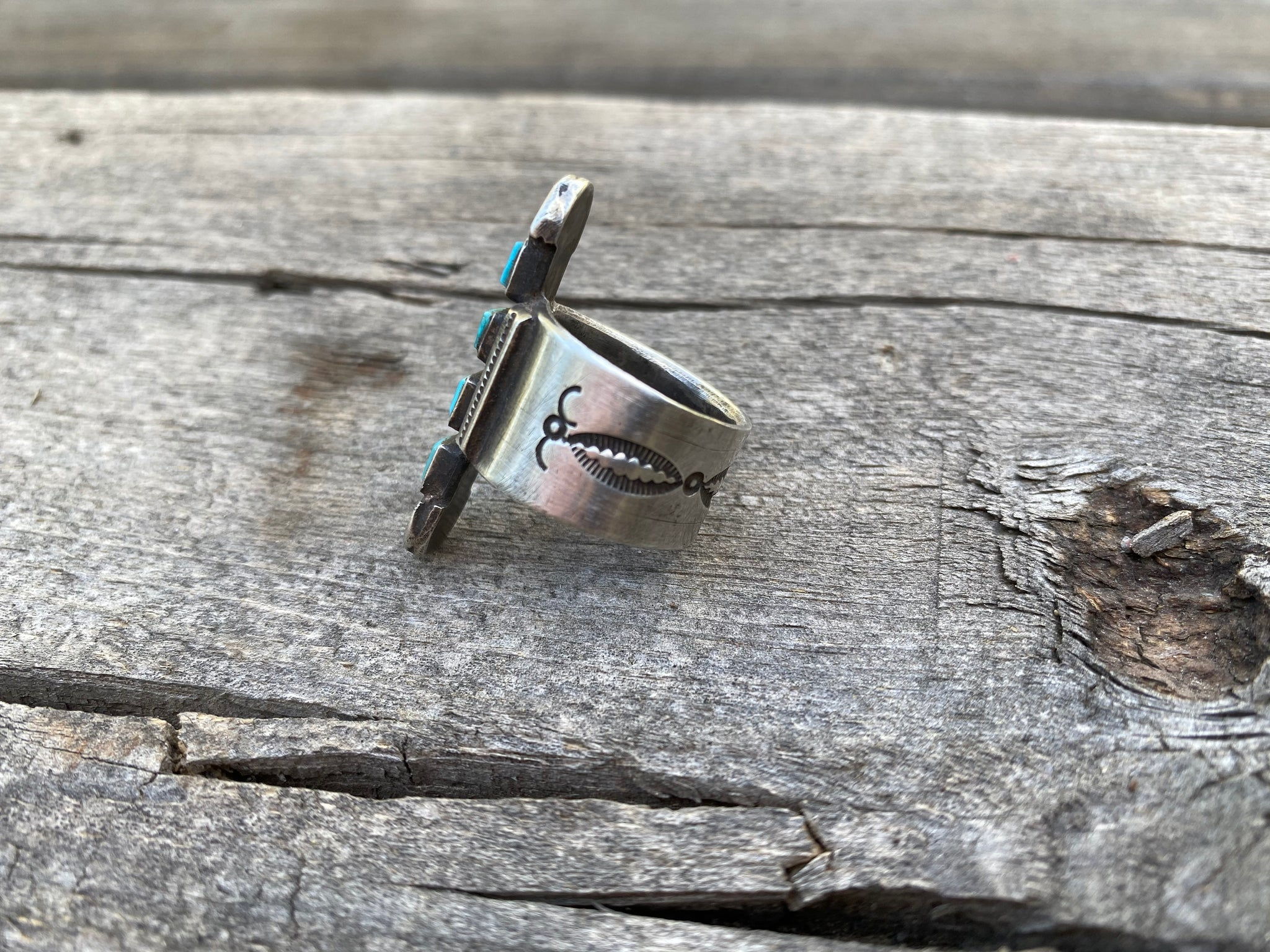 Jock Favour Silver and Turquoise Ring