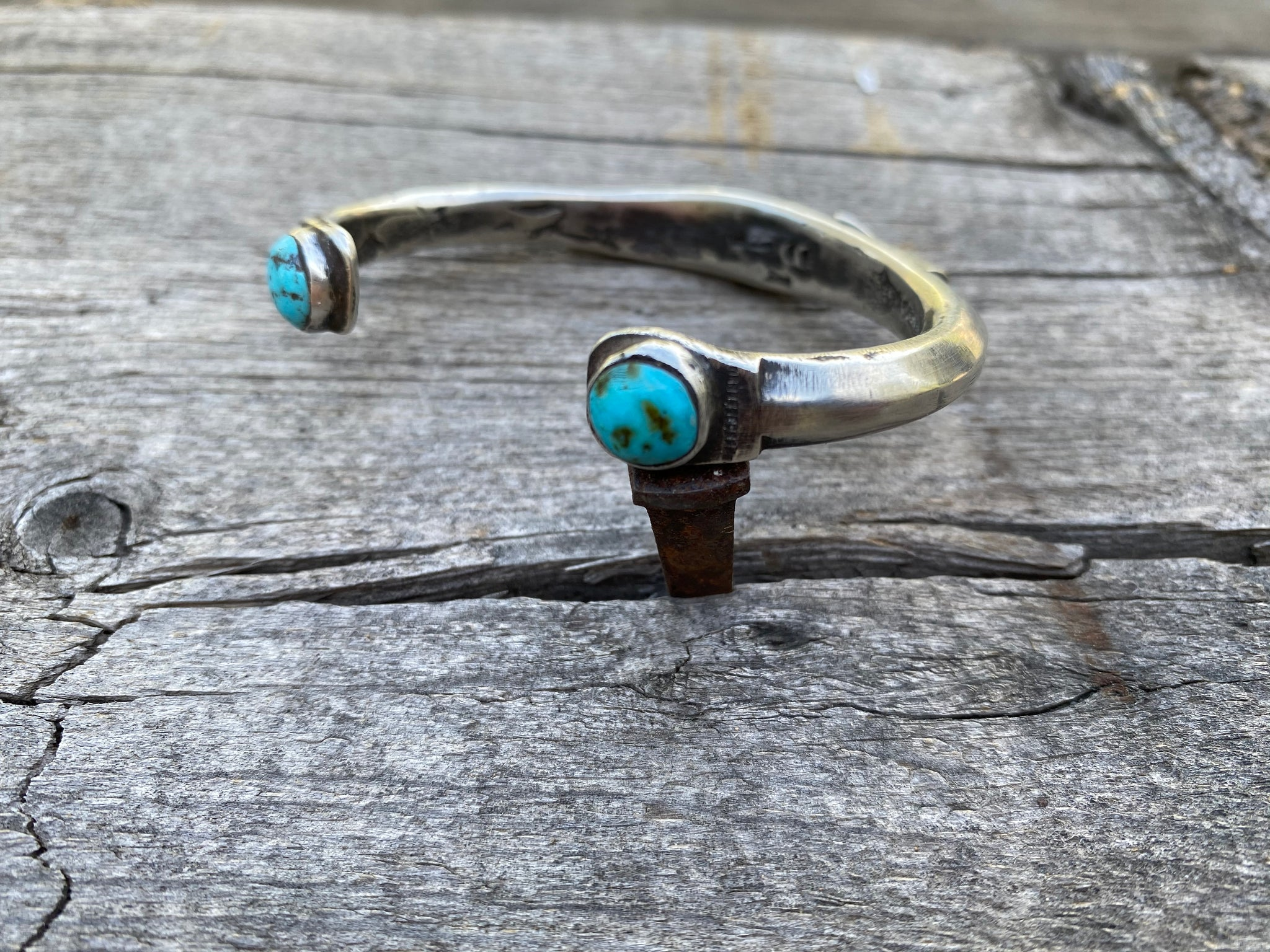 Jock Favour Silver and Turquoise Bracelet