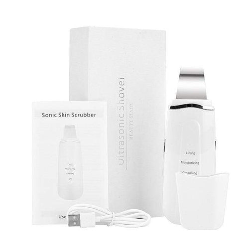 KetchBeauty  Exfoliator United States / White Ultrasonic Face Cleansing Exfoliator