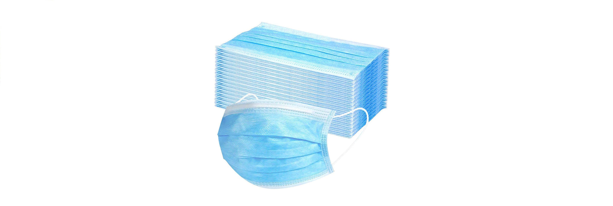 3 Layer Disposable Mouth Nasal Protective Mask (Pack of 100)