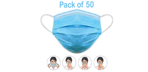 3 Layer Disposable Mouth Nasal Protective Mask (Pack of 50)