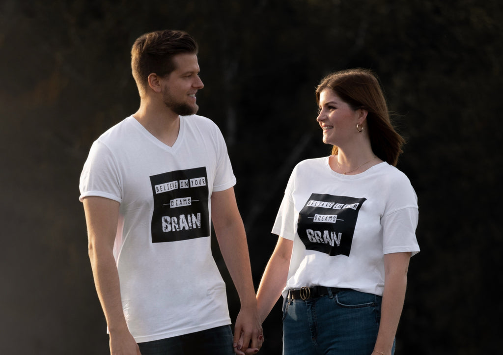 """Believe in Your Brain"" Partner T-Shirts - Cosmic Hippos"