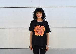 African Vibes, T-Shirt: Round Neck, Drop Shoulder - Cosmic Hippos