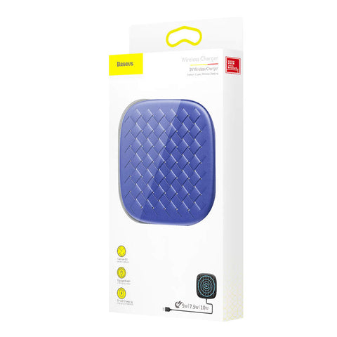 Baseus Wireless Charger BV series 10W Blue (WXBV-03) - www.e-navigacijos.lt