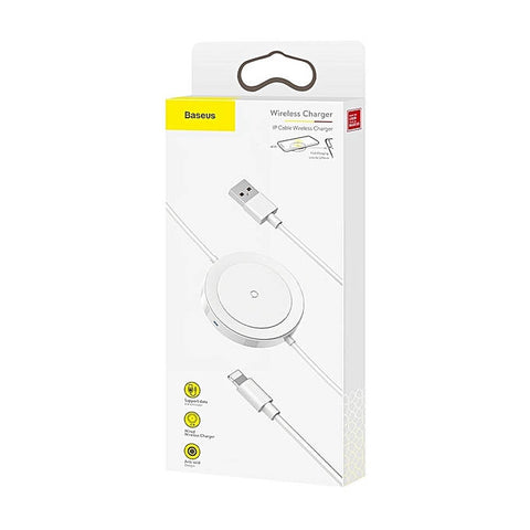 Baseus Wireless Charger Cable for Lightning 5W 1.2m White (WXCA-02)