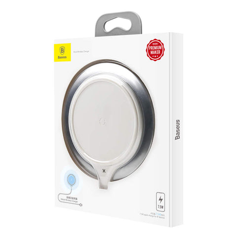 Baseus Wireless Charger Metal 10W Silver/White (WXJS-S2)