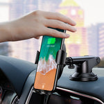 Baseus Car Mount Wireless Charger Phone Holder with Adjustable Arm Black (WXYL-A01) - www.e-navigacijos.lt