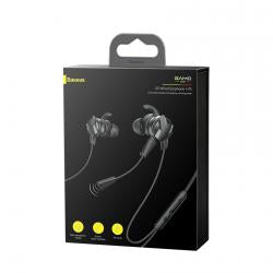 Baseus Earphone H15 GAMO Wired Black (NGH15-01) - www.e-navigacijos.lt