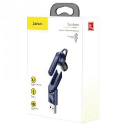 Baseus Earphone Bluetooth Magnetic USB Blue (NGCX-03) - www.e-navigacijos.lt
