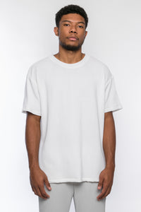 White Pleated Tee
