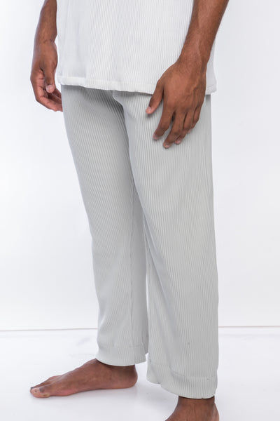 Dusk Ivory Pleated Trousers