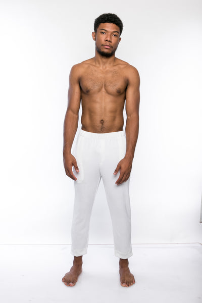 White Pleated Trousers