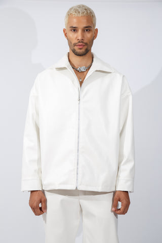 F/W20 White Vegan Leather Jacket