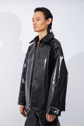 F/W20 Vegan Croc-Leather Jacket