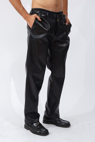 F/W20 Black Vegan Leather Trousers
