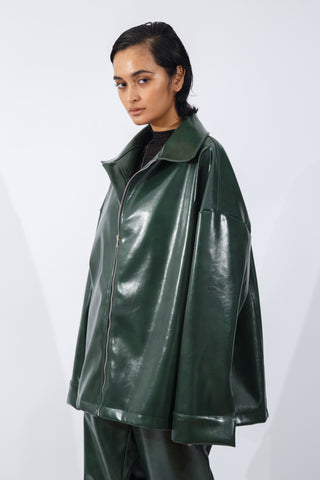 F/W20 Green Vegan Leather Jacket