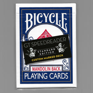 GT Speedreader Marked Bicycle Mandolin Back (Blue/+ Online effect)