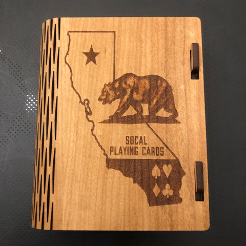 Custom Cherry Wood Case (OG Logo/Includes SoCal Deck!)