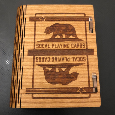 Custom Cherry Wood Case (SoCal Back/Includes SoCal Deck!)