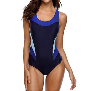 Sports slim backless one-piece swimsuit