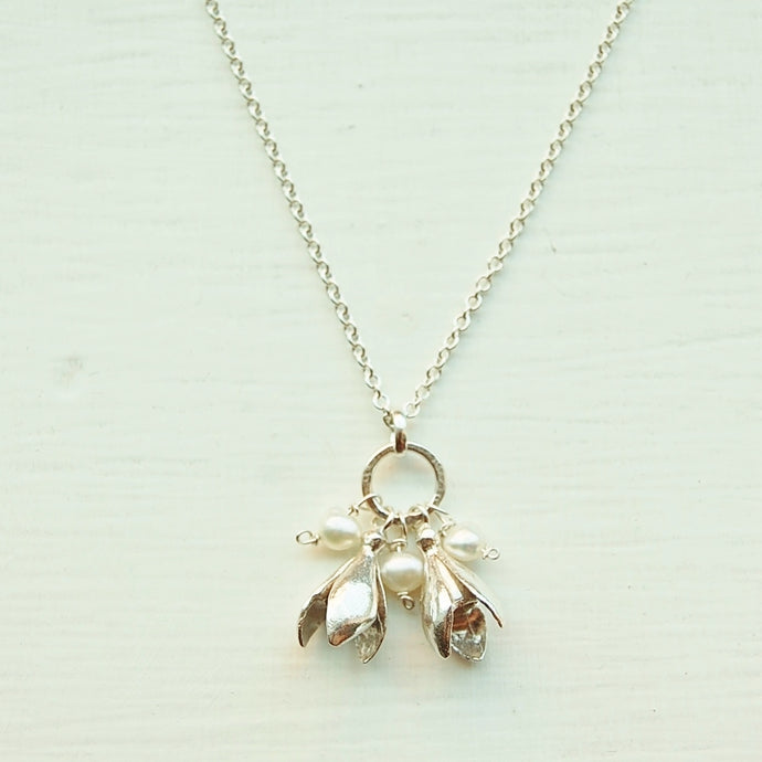 Double Snowdrop Necklace