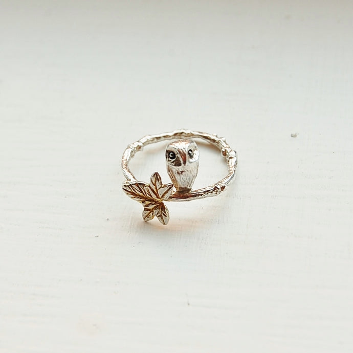 Owl in the Ivy Ring
