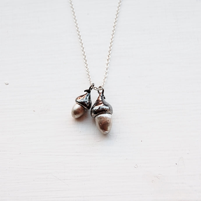 Double Acorn Necklace