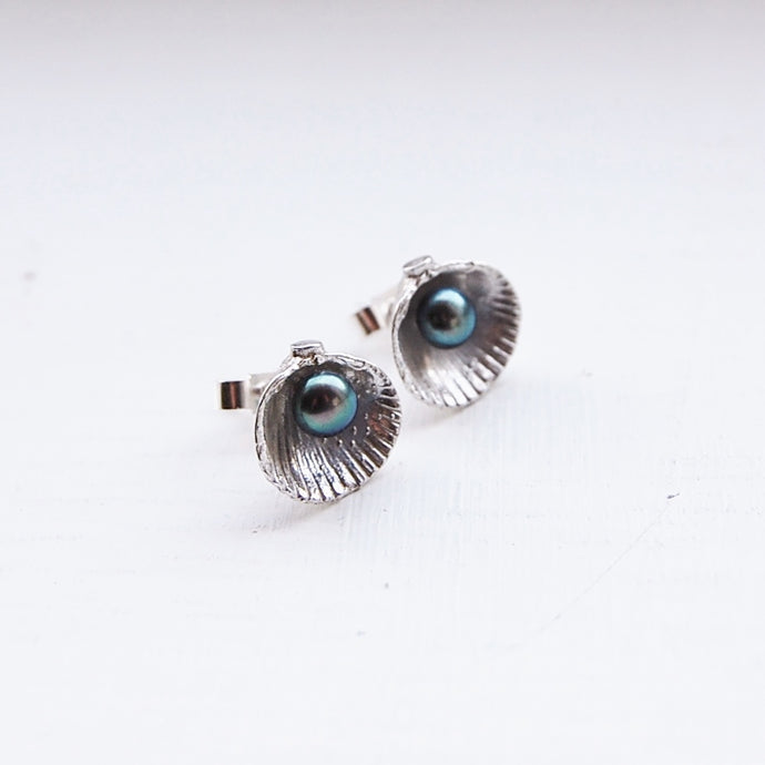 Cockle Shell & Pearl Earrings