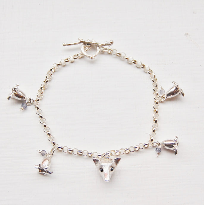 Fox in the Bluebells Bracelet