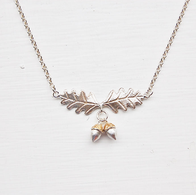 Oak Leaf & Acorns Necklace