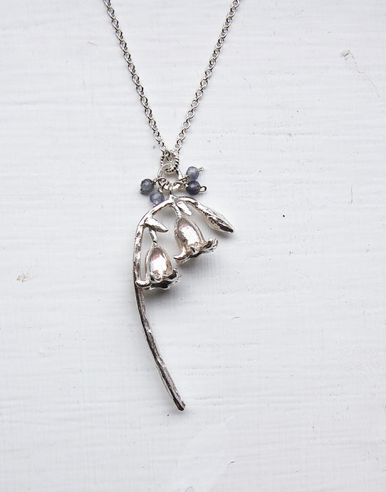 Bluebells on a Stalk Necklace