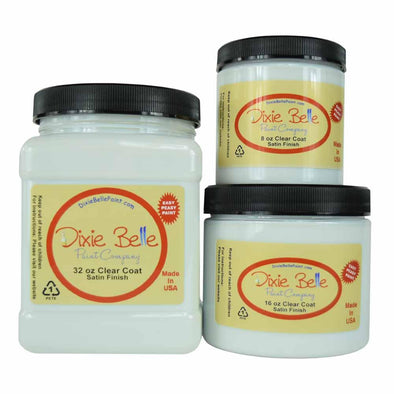 Dixie Belle Clear Top Coat - SATIN (8oz & 16oz)