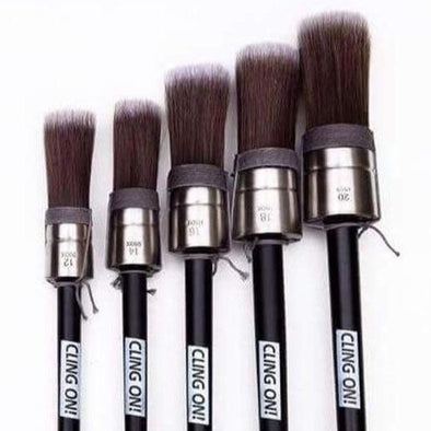 Cling-on Round Brushes (Available in 5 sizes)