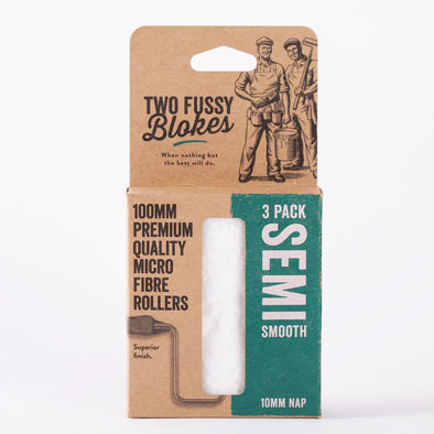 Two Fussy Blokes - 100mm SEMI SMOOTH Mini Rollers (MICROFIBRE-10mm nap)