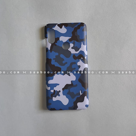 Hard Case - saaboo - Blue Camouflage Case